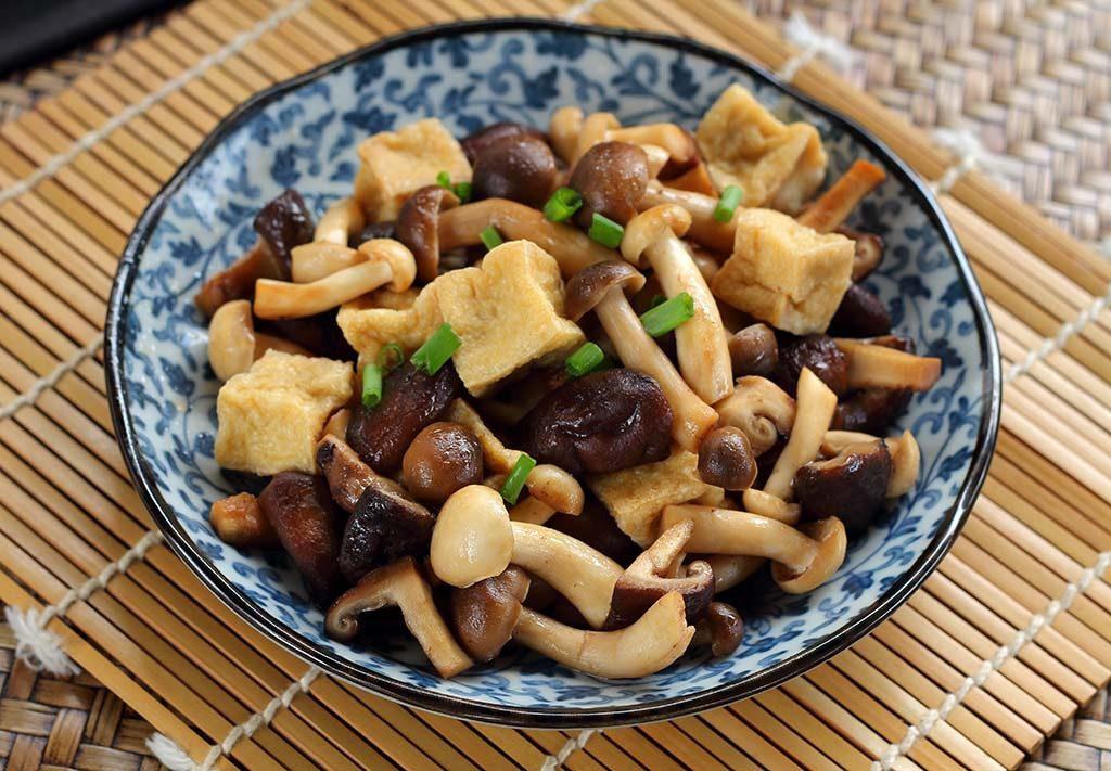 Tofu com Shimeji, Oriental