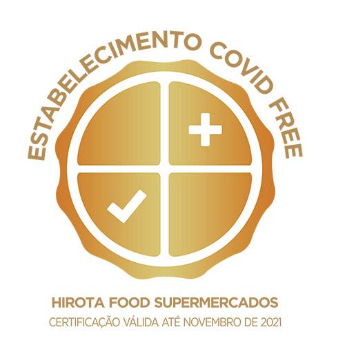 Hirota-covidFree Hirota Food é COVID FREE!