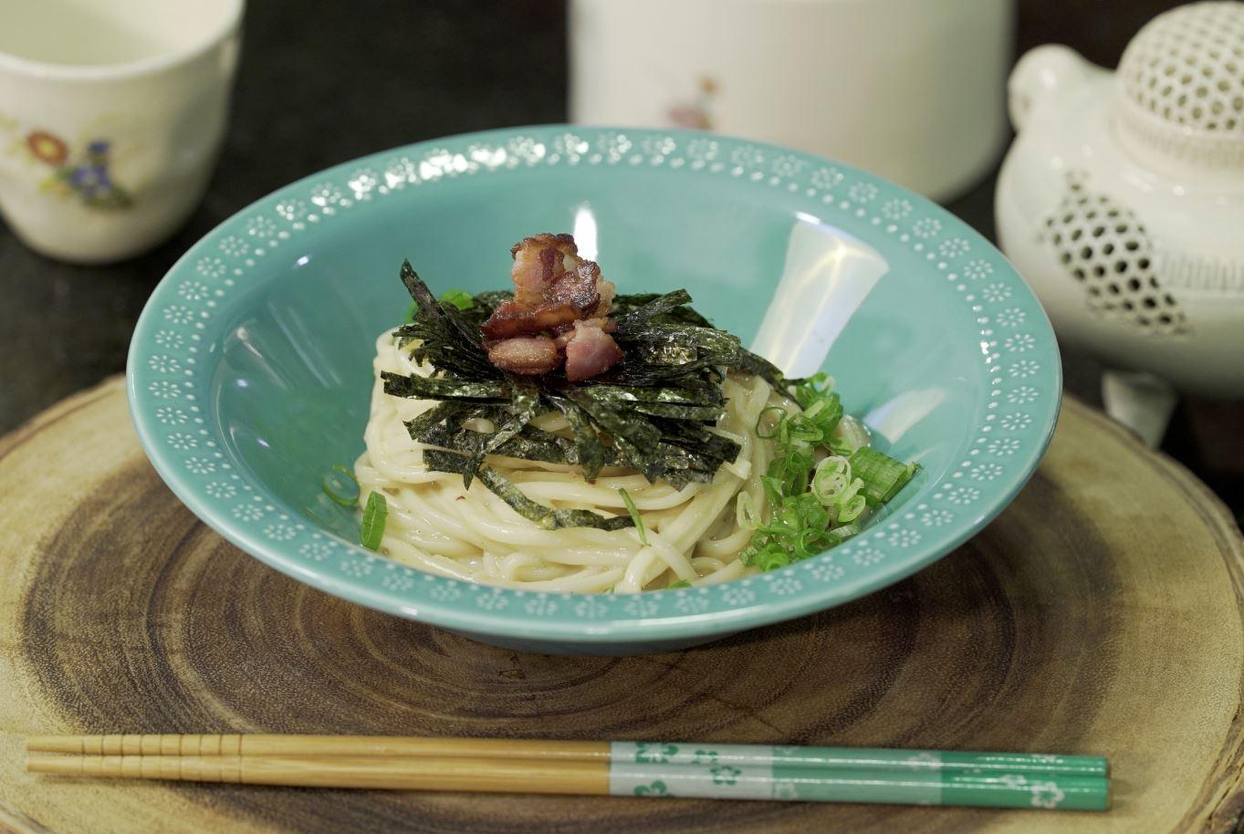 hiyashiSoba-menor Finalista: Receita da Província de Kagoshima | Udon Carbonara